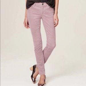 NWT Loft Modern Skinny Pink Cords Pants Size 6/28